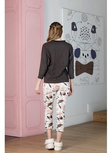Hays Kadın Yarım Kollu Pijama Takımı Kahve